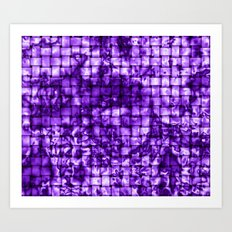 Purple Satin Weave Effect Art Print