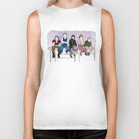 the breakfast club Biker Tanks featuring The Breakfast Club by DJayK