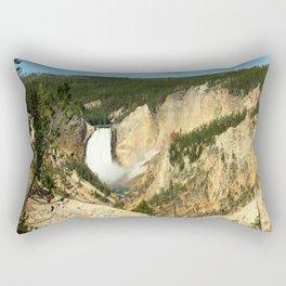 Majestic Yellowstone Upper Falls Rectangular Pillow