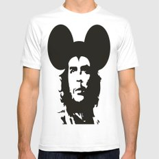 Guevara Mouse White MEDIUM Mens Fitted Tee