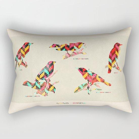 Song Birds Rectangular Pillow