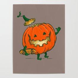 Skatedeck Pumpkin Poster