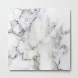Gray Marble Print Metal Print