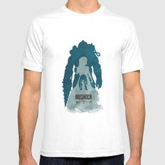 Bioshock 2 - Delta and Eleanor White Mens Fitted Tee MEDIUM