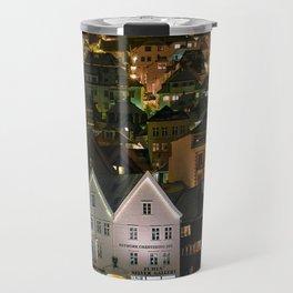 The Iconic Architecture of Bergen Travel Mug