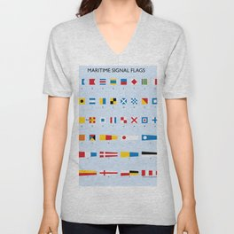 Maritime Signal Flags Poster Unisex V-Neck
