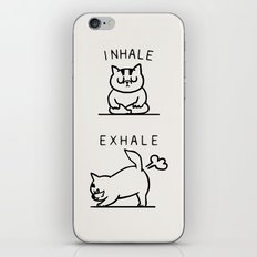 Inhale Exhale Cat iPhone & iPod Skin