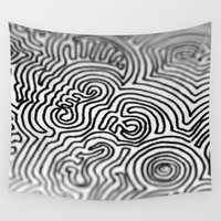 doodle Wall Tapestries featuring Doodle by Emerald Vallee