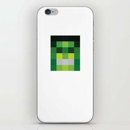 hero pixel green black iPhone & iPod Skin