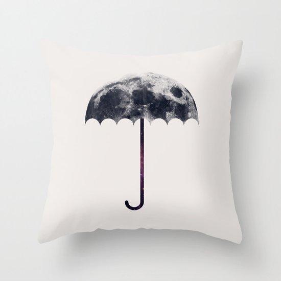 Space Umbrella II Throw Pillow