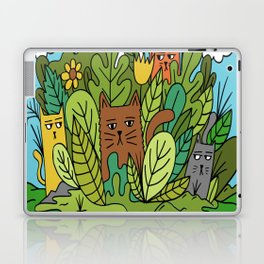 Cats In A Garden Laptop & iPad Skin