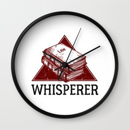 Law Whisperer Lawyer Student Vintage Wall Clock