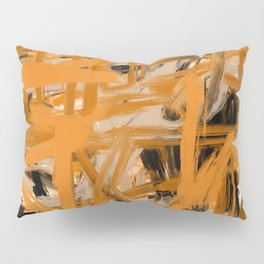 Orange & Taupe Abstract Pillow Sham