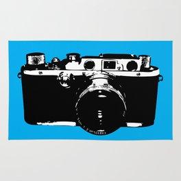 Leica in Blue Rug