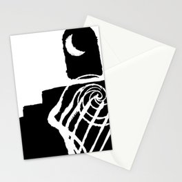 that night the moon asked Stationery Cards