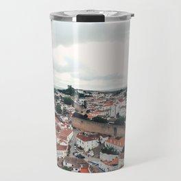 Aerial of Óbidos, Portugal Travel Mug