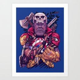 Wild Thanos Art Print