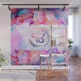 Watercolor Ek Onkar / Ik Onkar symbol Wall Mural