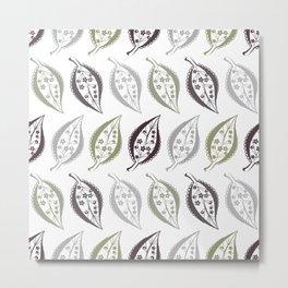 Delicate leaves , fishnet Metal Print
