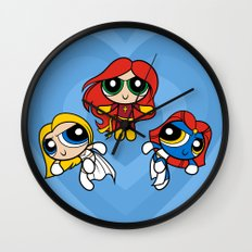 Sisterhood of Evil Puffs Wall Clock