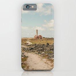 Lighthouse island - Klein Curacao Vuurtoren foto | Urban nature abandoned building clear sky photography art print iPhone Case