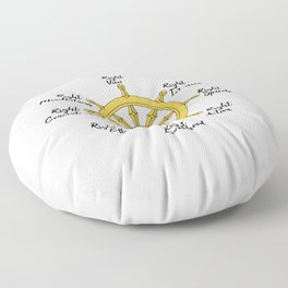 The Noble Eightfold path Floor Pillow