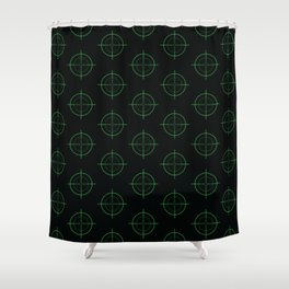 Gun Sight Crosshairs Shower Curtain