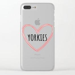 Love Yorkies Love | Dogs | Nadia Bonello Clear iPhone Case
