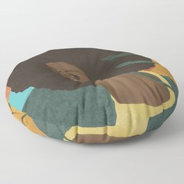 Afro lady #art print#society6 Floor Pillow