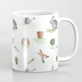 Bunnies in a garden Coffee Mug