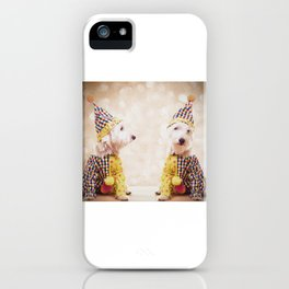 Circus Clown Dogs iPhone Case