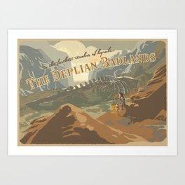 Deplian Badlands Art Print