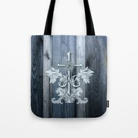christ Tote Bags featuring Jesus Christ by biblebox