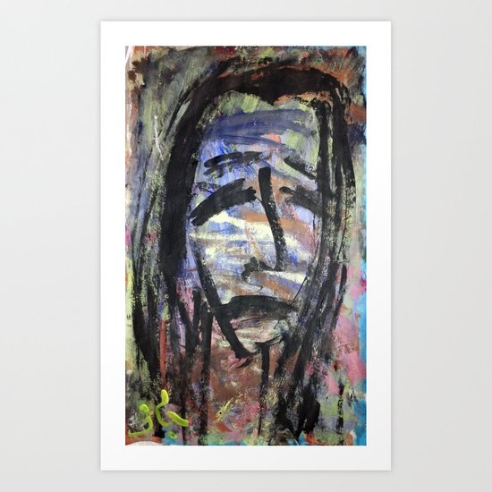 SELF PORTRAIT IN SORROW Art Print