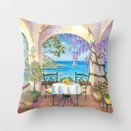 Mediterranean View Throw Pillow