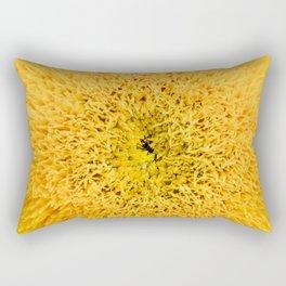Teddy Bear Sunflower Petals Rectangular Pillow