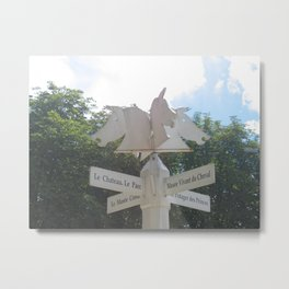 Sign to Everywhere in Chantilly, France (2008) Metal Print