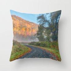 Misty Autumn McDade Trail Throw Pillow