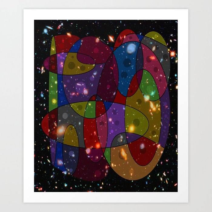 Abstract #305 Galaxies Art Print