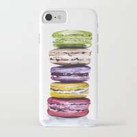 macarons iPhone & iPod Cases featuring Macarons by Bridget Davidson