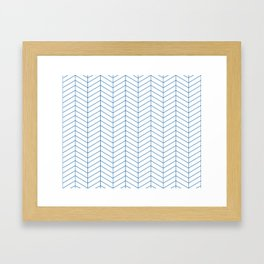 Herringbone - Princess Blue Framed Art Print