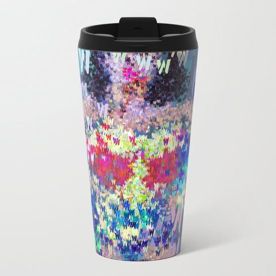Wonder Type Woman - Abstract Pop Art Comic Metal Travel Mug