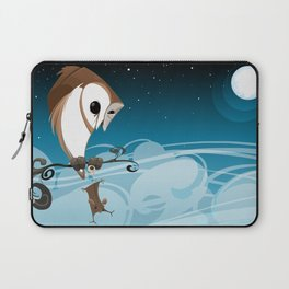 Barn Owl and Mouse Laptop Sleeve