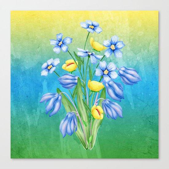 Flowers Bouquet #23 Canvas Print