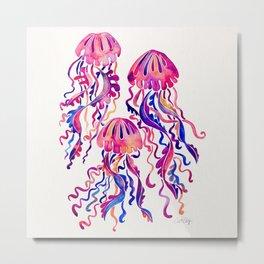 Jellyfish – Magenta Palette Metal Print