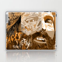 """Faces - Petty"" by Blackard, Boehm, Fiche, Livengood, & McCarthy - Monochrome Laptop & iPad Skin"