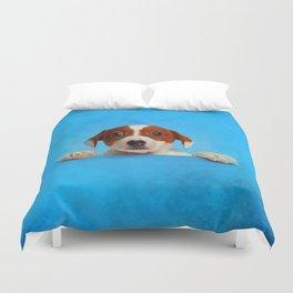 Cute Jack Russell Terrier Puppy Duvet Cover