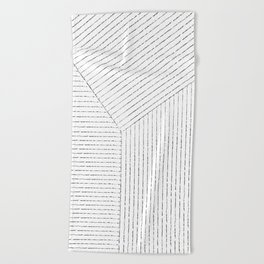 Lines Art Beach Towel