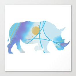 Abstract Rhino Canvas Print