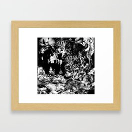 Smoldering in the Blackest Caverns Framed Art Print